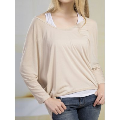 Batwing High Low Blouse