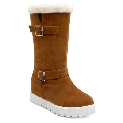 Double Buckles Snow Boots