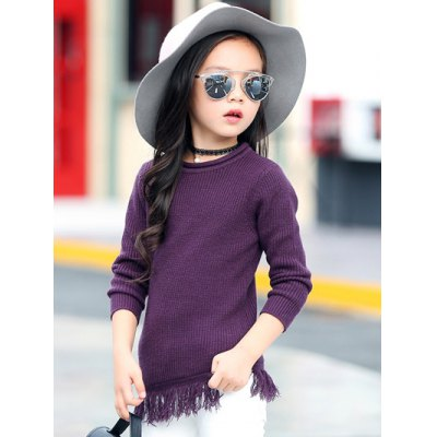 Round Collar Long Sleeve Fringe Wool SweaterGirls Clothing<br>Round Collar Long Sleeve Fringe Wool Sweater<br><br>Type: Pullovers<br>Material: Polyester,Wool<br>Sleeve Length: Full<br>Collar: Round Neck<br>Style: Casual<br>Weight: 0.239kg<br>Package Contents: 1 x Sweater
