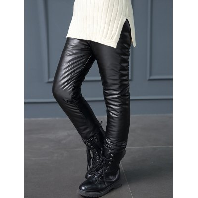 Fleece Lined Elastic Waist Faux Leather PantsGirls Clothing<br>Fleece Lined Elastic Waist Faux Leather Pants<br><br>Style: Fashion<br>Length: Normal<br>Material: Faux Leather<br>Fit Type: Skinny<br>Waist Type: Mid<br>Closure Type: Elastic Waist<br>Pattern Type: Solid<br>Pant Style: Straight<br>Weight: 0.255kg<br>Package Contents: 1 x Pants