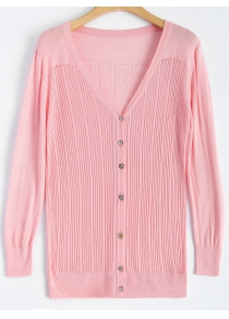 Buttoned Slimming Cardigan