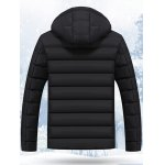 cheap Hooded Stand Collar Thicken Zip-Up Quilted Jacket