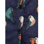 Plus Size Bird Corduroy Dress with Button photo