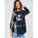 cheap Checked Vintage Linen Shirt