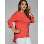 Plus Size Batwing Sleeve High Low T-Shirt for sale