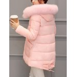 best Pocket Padded Coat with Furry Hood