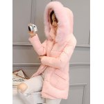 Pocket Padded Coat with Furry Hood deal