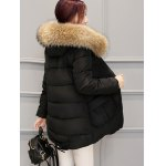 Pocket Padded Coat with Furry Hood for sale