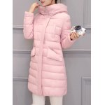 cheap Long Hooded Padded Coat