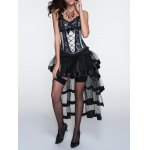 Cami Laciness Corset + Fringed Asymmetrical Skirt Twinset for sale