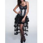 Cami Laciness Corset + Fringed Asymmetrical Skirt Twinset deal