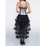 Cami Laciness Corset + Fringed Asymmetrical Skirt Twinset photo