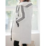 Striped Slim Long Quilted Coat deal