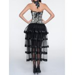 Halter Printed Corset + Fringed Asymmetrical Skirt Twinset deal