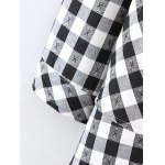 Plus Size Fleece Lined Checked Shirt for sale