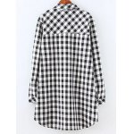 cheap Plus Size Fleece Lined Checked Shirt