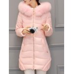 Asymmetrical Hooded Padded Coat