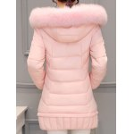 Asymmetrical Hooded Padded Coat for sale