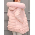 Asymmetrical Hooded Padded Coat deal