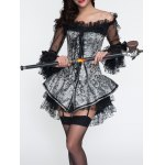 Lace Tiered Dress + Jacquard Corset Twinset deal