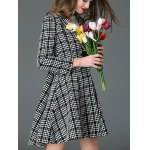 Convertible Checked Wool Blend Coat for sale