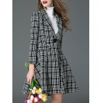 Convertible Checked Wool Blend Coat deal