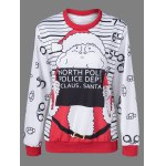 Graphic Strip Christmas Pullover Sweatshirt