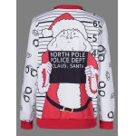 cheap Graphic Strip Christmas Pullover Sweatshirt