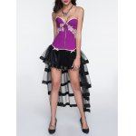 Applique Zippered Corset + Fringed Tiered Skirt Twinset deal