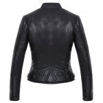 best Embossing Zipper Design Leather Jacket
