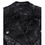 Embossing Zipper Design Leather Jacket photo