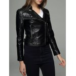 Embossing Zipper Design Leather Jacket