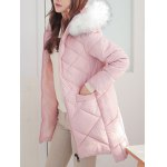 High Low Hooded Quilted Coat deal