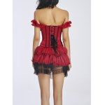 Bowknot Design Corset + Lace Mini Skirt Twinset deal