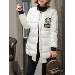 cheap Patch Padded Puffer Coat