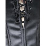 Lace Up Faux Leather Corset Top for sale