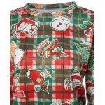 Plaid Christmas Print Sweatshirt deal