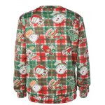 cheap Plaid Christmas Print Sweatshirt