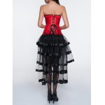 Jacquard Corset + Asymmetrical Skirt Twinset for sale