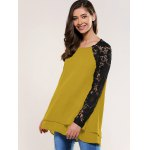 cheap Lace Splicing Blouse