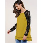 Lace Splicing Blouse deal
