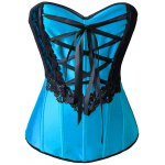 best Applique Lace-Up Corset + Tiered Skirt Twinset