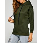 cheap Active Side Zipper Drawstring Hoodie