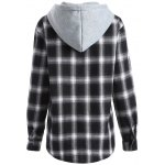 Hooded Loose Checked Shirt deal