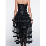Breathable Zippered Corset + Asymmetrical Skirt Twinset for sale