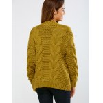 Cable Collarless Cardigan for sale