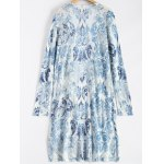 cheap Printed Open Front Duster Coat