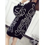 Puff Sleeve Jacquard Sweater Dress for sale