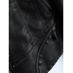 PU Cropped Biker Jacket photo