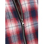 Zipper Check Hooded Coat for sale